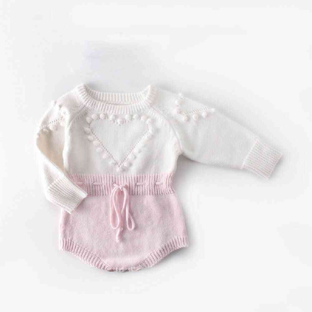 Kid Baby Girl Knitted Clothes Romper Jumpsuit.