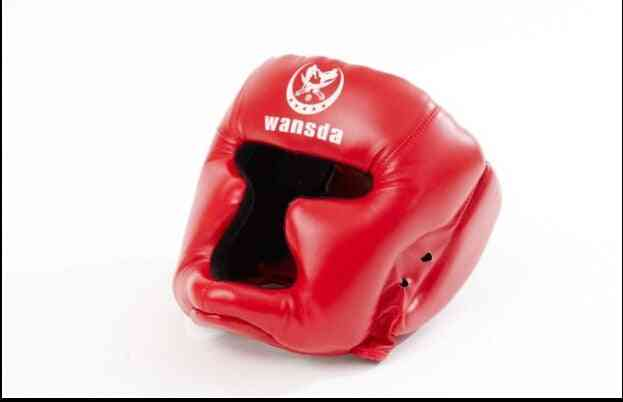 Red/black Closed Type Boxing Head Guard