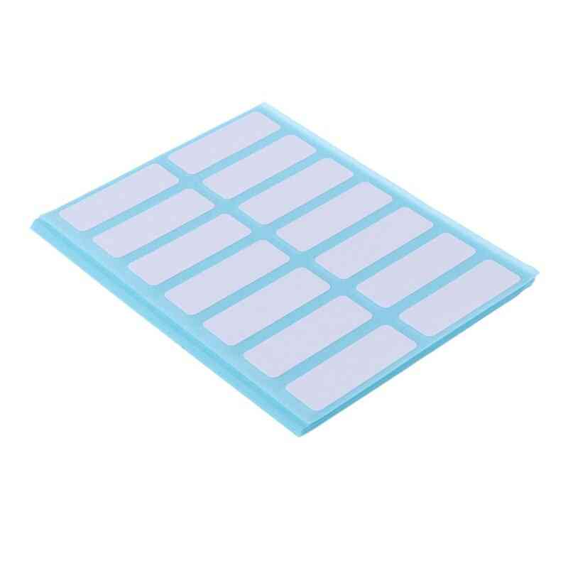 Self Adhesive Sticky White Label Name Stickers