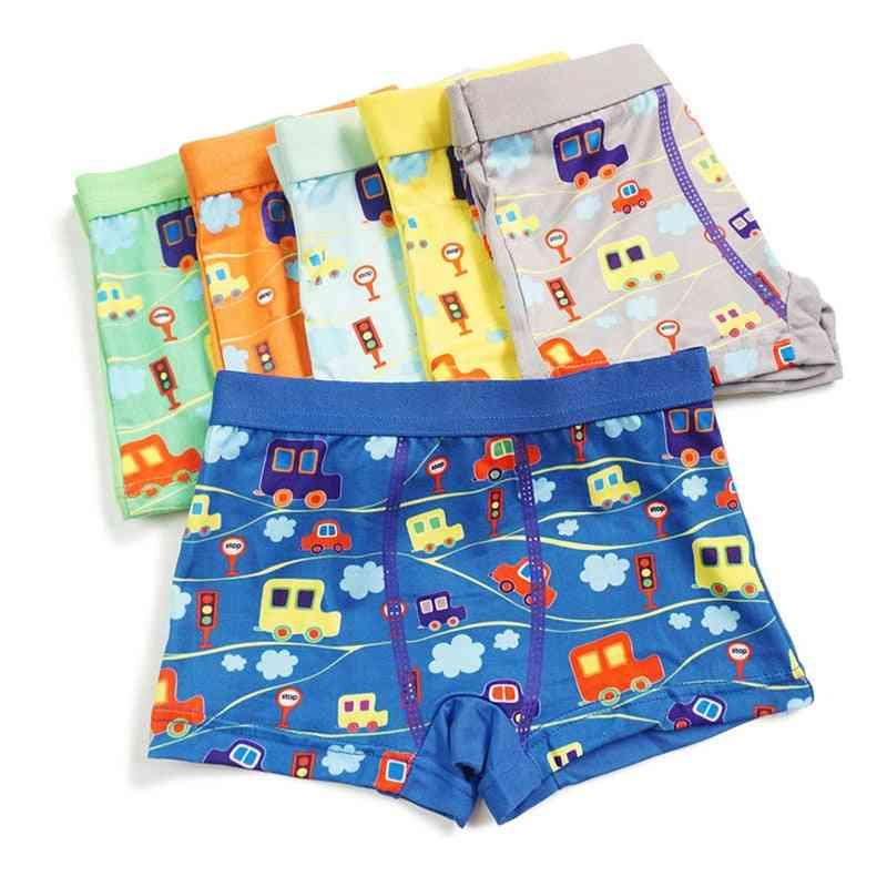 Boys Underwear  Shorts Panties For Baby Boy Boxers Cartoon Car Underpants