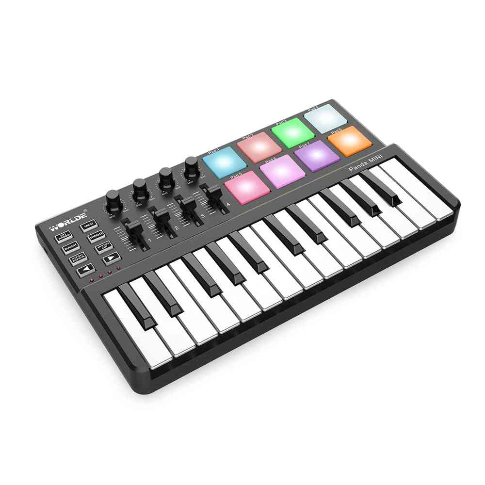 25-key Usb Keyboard And Drum Pad Controller