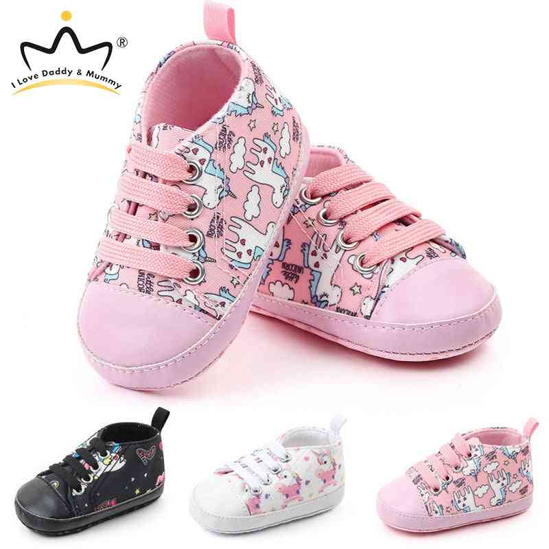 Cute Unicorn Baby Shoes Boy Girl Sneakers Winter Autumn Warm Soft Bottom Anti Slip Newborn Shoes Toddler Enfant First Walkers
