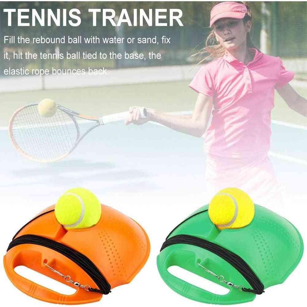 Automatic Tennis Ball Trainer Machine Rebound Ball Exercise Sparring Device Set
