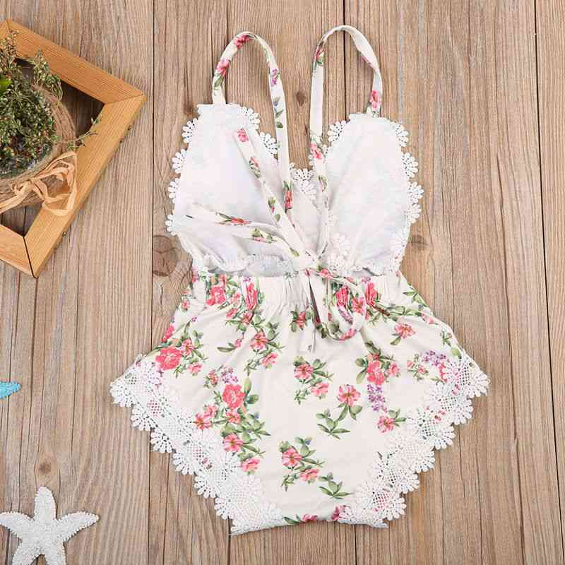 Emmababy Newborn Kids Baby Clothes Outfits Set Lace  Jumpsuit
