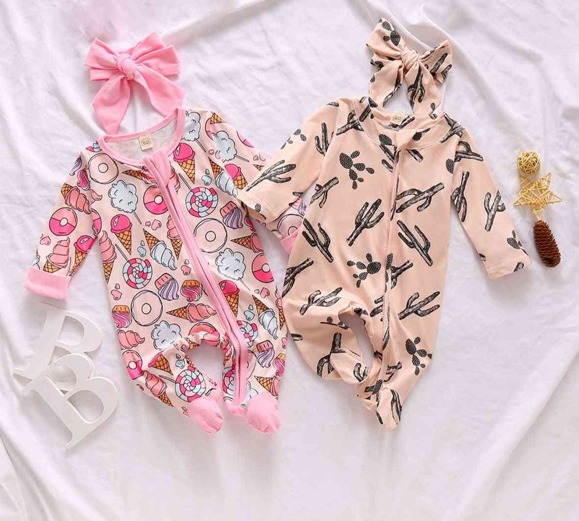 Baby 0-6m Newborn Infant Baby Footies Cute Ruffles Jumpsuit Clothes