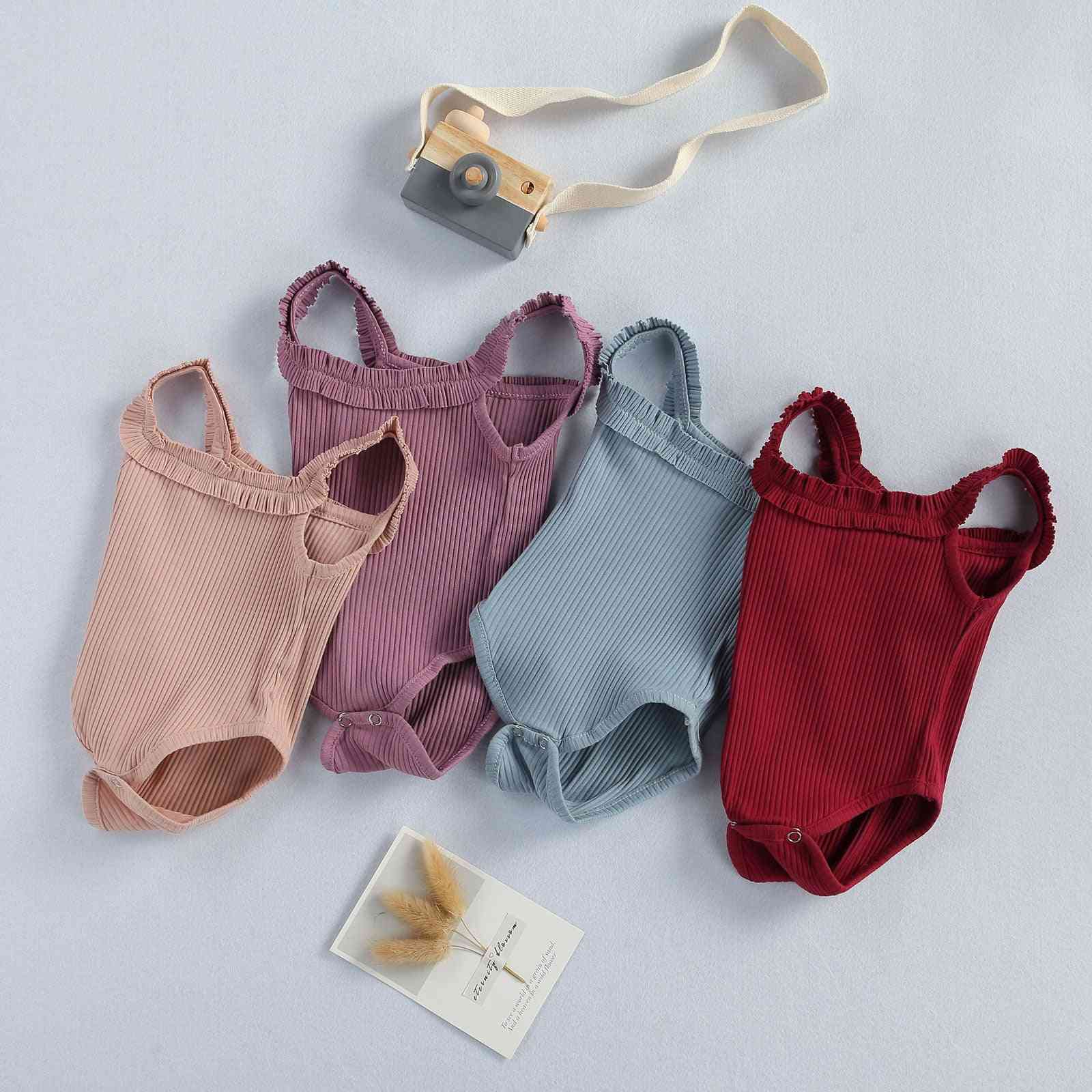 Baby Bodysuits Summer Clothing Newbown Ruffled Jumpsuits/ Playsuits