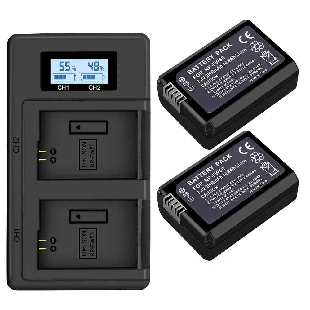 Palo Battery  + Lcd Dual For Sony Alpha