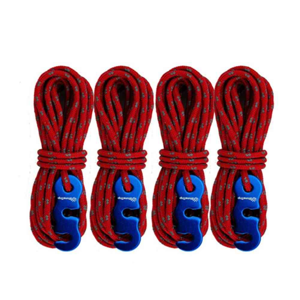 Tent Accessories With S-ring Hooks High-strength Reflective Wind Rope