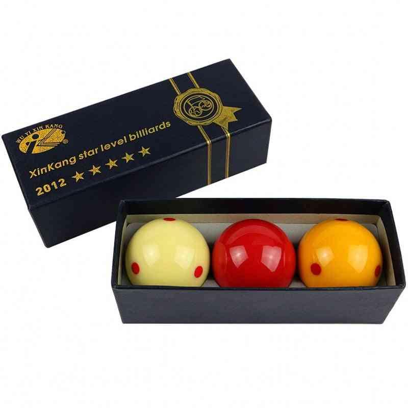 Billiards Balls 61.5mm French Carom Billiards Ball- Spotted -resin Ball 3 Pcs /pack Billiard Accessories
