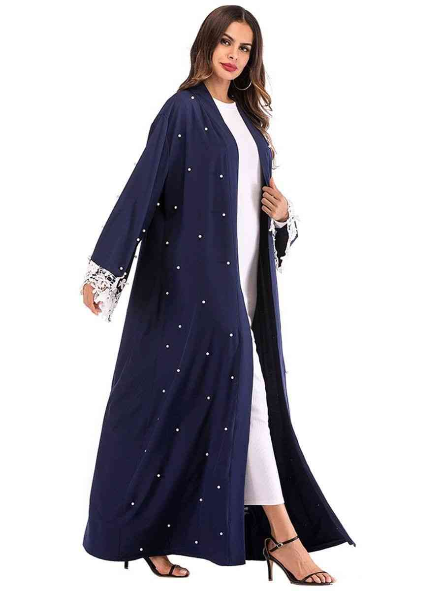 Kimono Elegant Lace Floral Sleeve Beading Dress