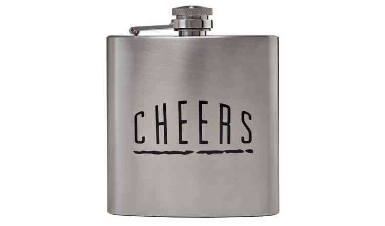 Cheers Flask Stainless Steel Hip Flask Personalized