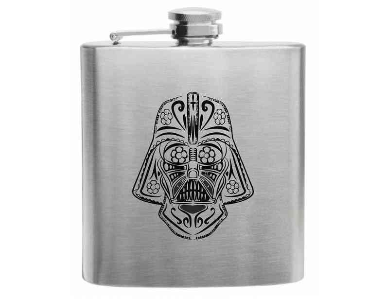 Day Of The Dead Darth Vader, Darth Vader, Star Wars, Vader Flasks