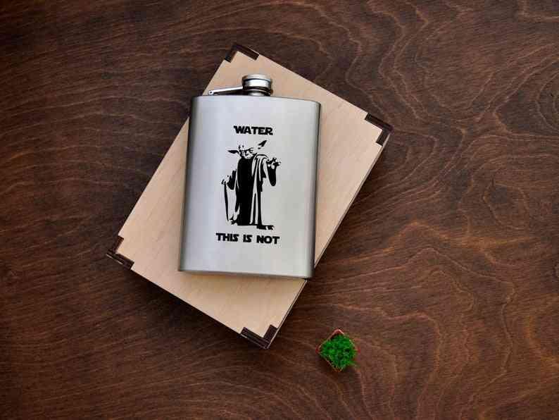 Star Wars Hip Flask Whiskey For Friend Yoda