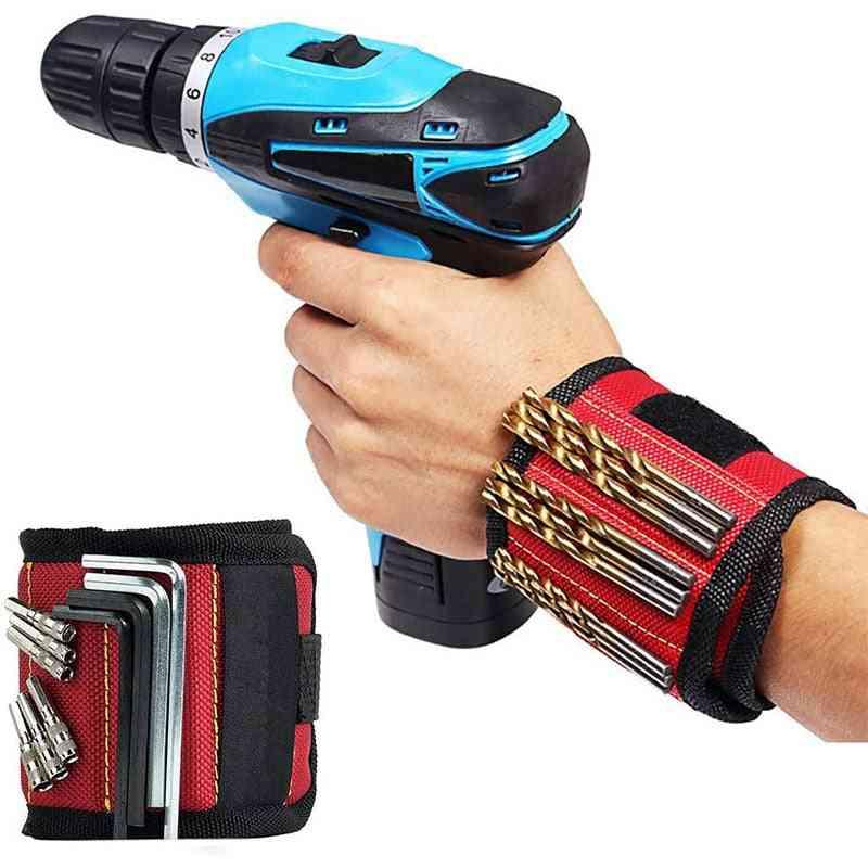Magnetic Wristband Bracelet Portable Electrician Wrist Tool Belt