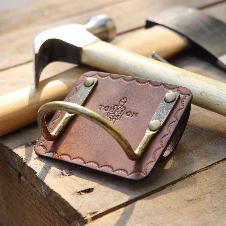 Genuine Leather Heavy Duty Steel Loop Axe Hatchet Hammer Holder