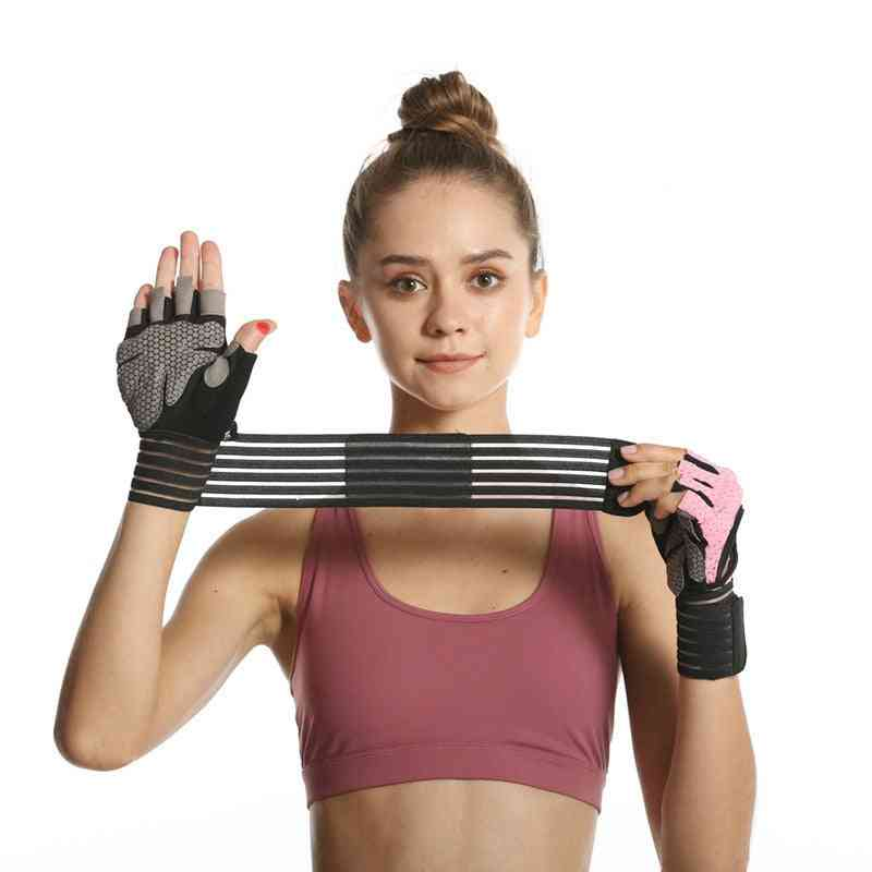 Gym Sports Gloves Half Finger Weight Lifting Gloves