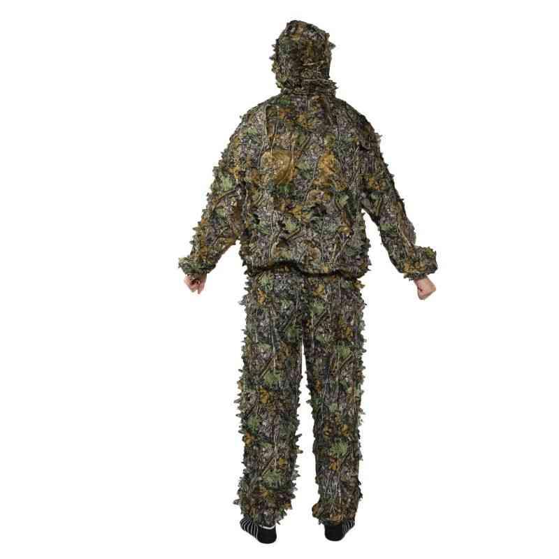 3d Leaf Coat Trousers Camouflage Outdoor Men Jungle Suit
