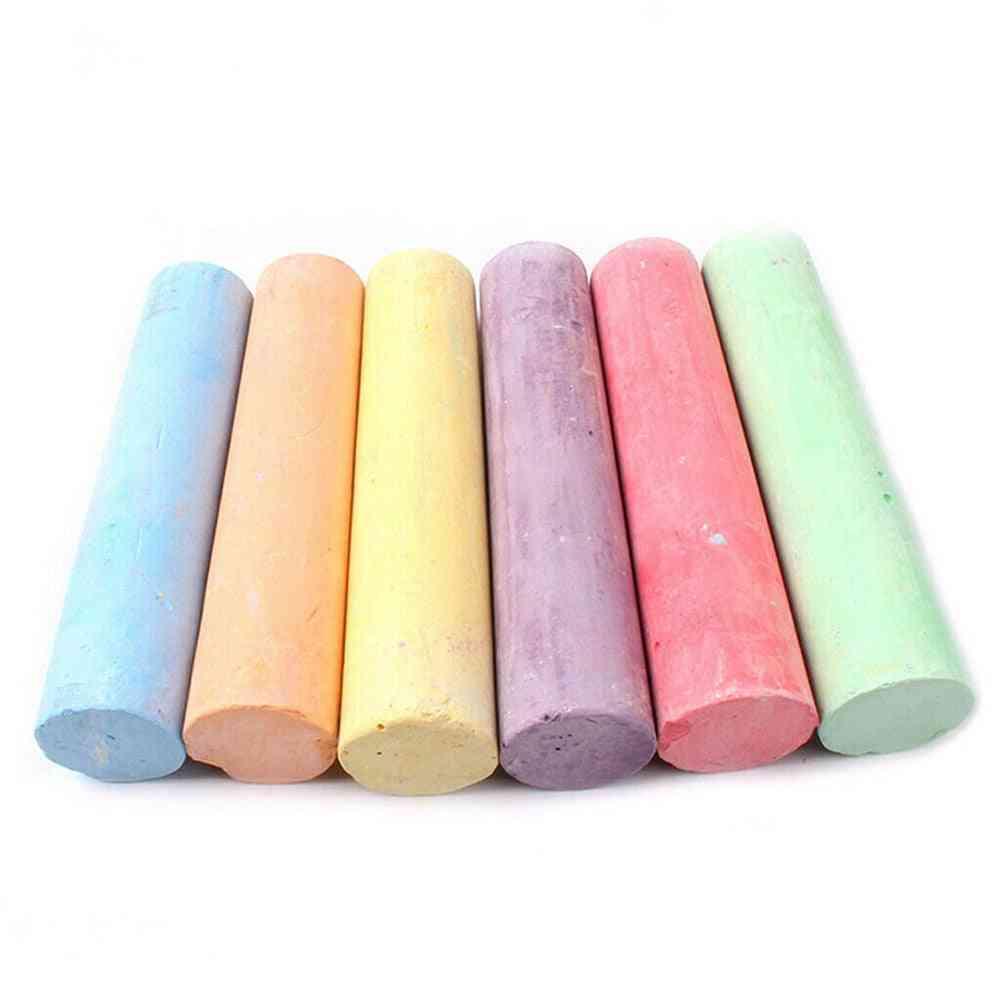 6/12pcs Mixed Color Dustless Chalk Sticks