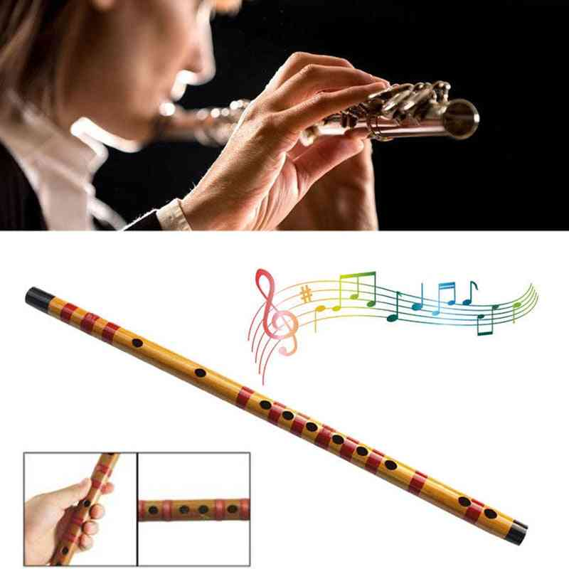 1 Pcs Professional Flute Bamboo Musical Instrument For Beginner Students &t8