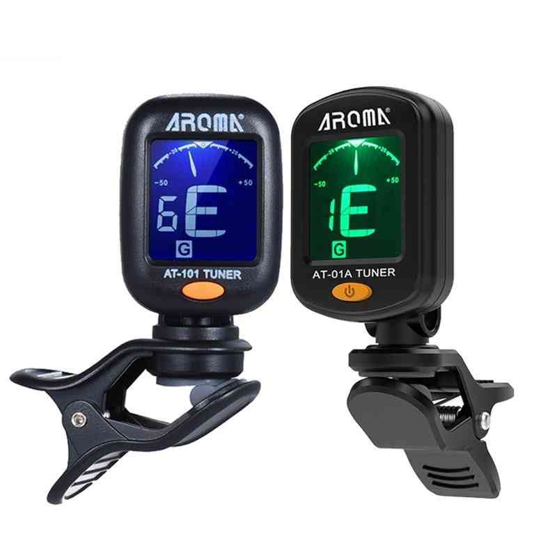 High Sensitivity At-01a/101 Guitar Tuner Foldable Rotatable Clip-on Tuner