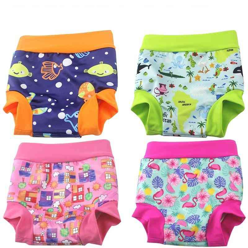 Baby Cloth Diaper Printed Trunks Kid Washable Nappies Quality Pool Pant