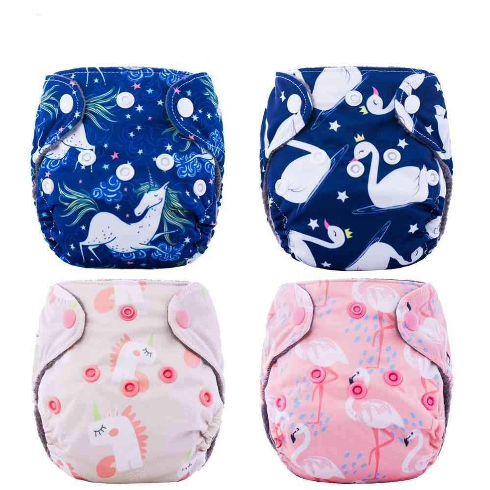 Newborn Diapers Tiny Cloth Diaper Bamboo Charcoal Lining Double Gussets
