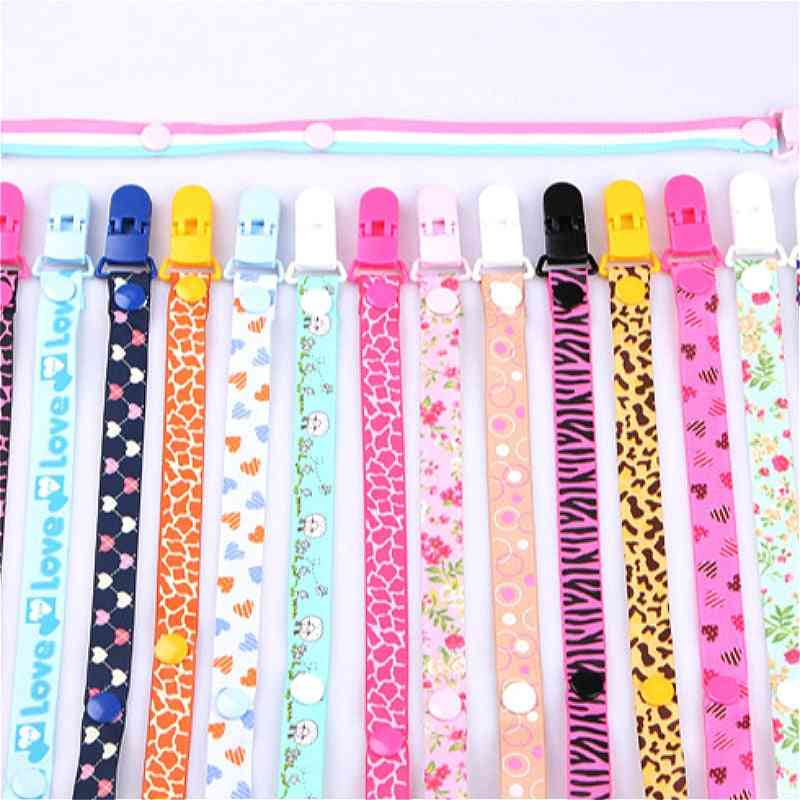 Baby Clips Chain Dummy Clip Holder Nipples Cartoon Pacifier Clip