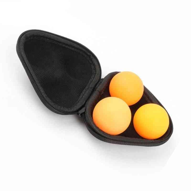 Portable Leather Table Tennis Ball Case Hard Box