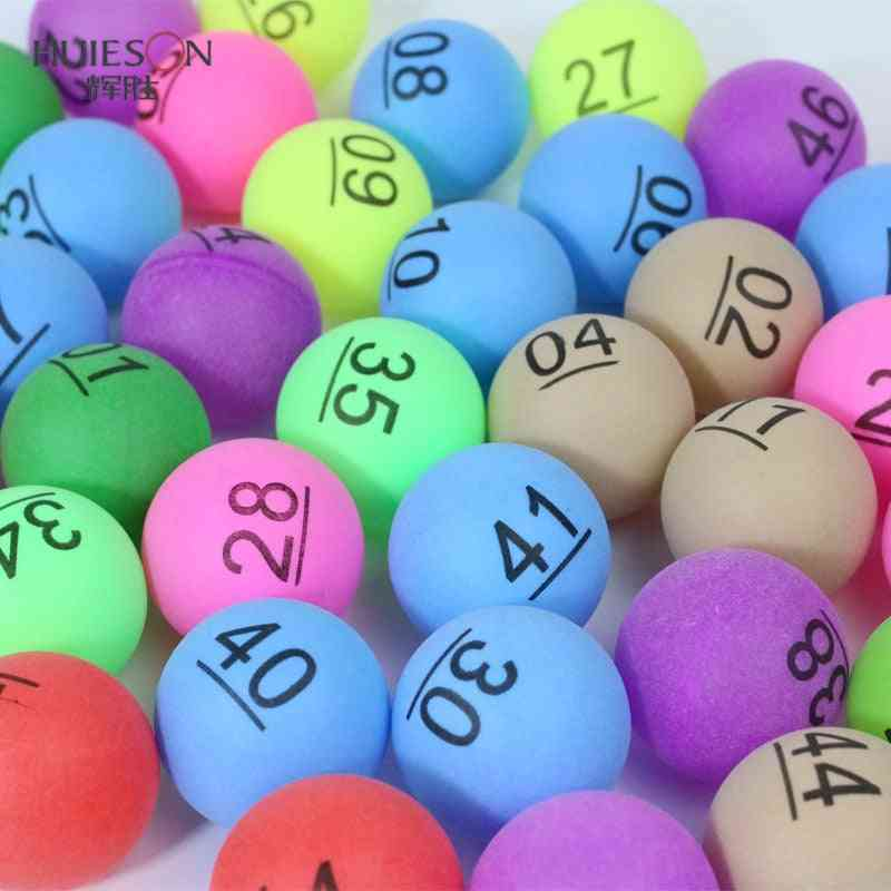 One Pack Colored Ping Pong Number Table Balls