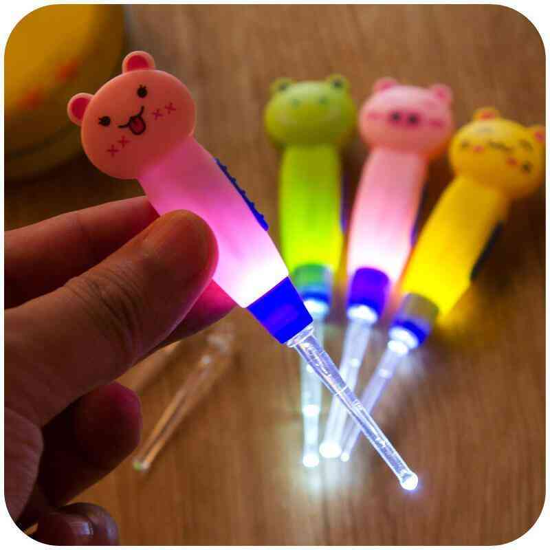 Baby Care Ear Spoon Light Child Ears Cleaning With Light Dig Ear Syringe