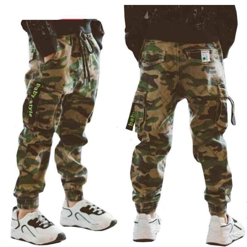Boys Casual Cargo Pants For Kids Cotton Trousers Clothes