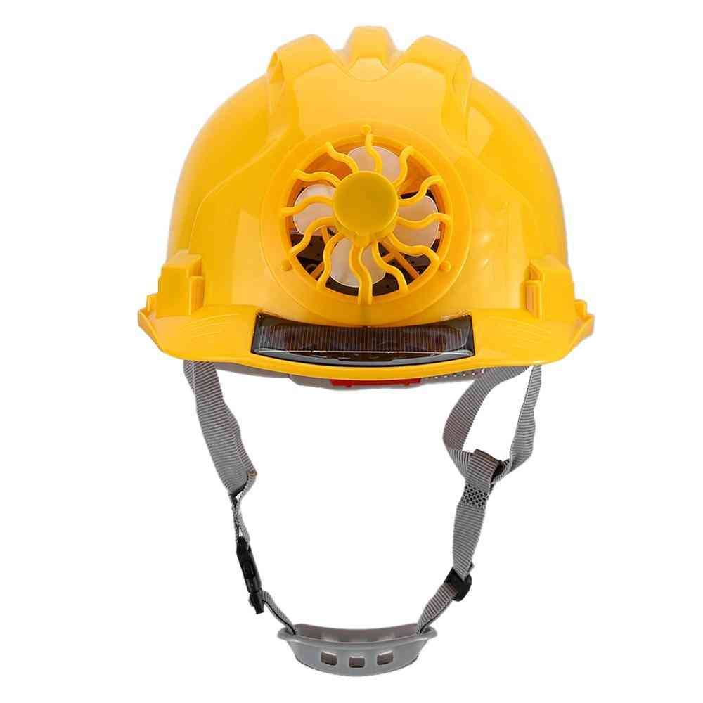 Outdoor  Safety Helmet With Solar Power Fan