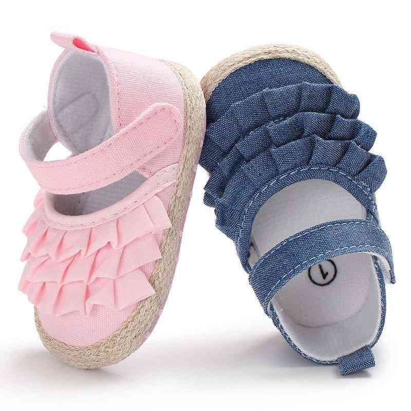Newborn Baby Girl Summer Shoes Sole Toddler  Solid First Walkers