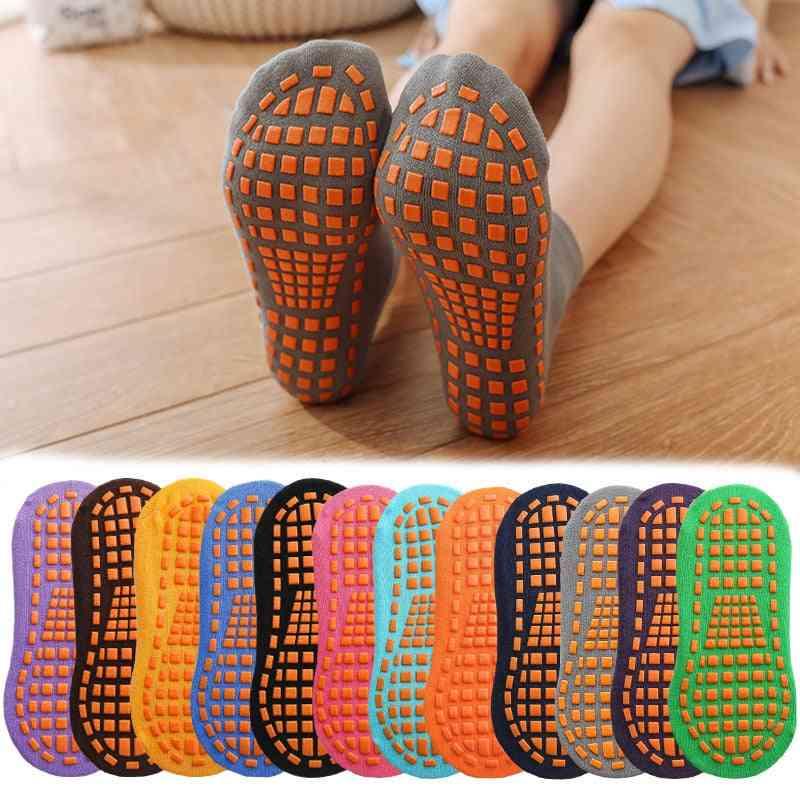 Kids Adults Anti-slip Sock, Cotton Breathable Short Socks