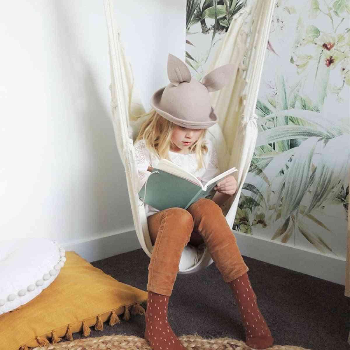 Outdoor Indoor Dormitory Swing Hanging Chair With Wooden Rod