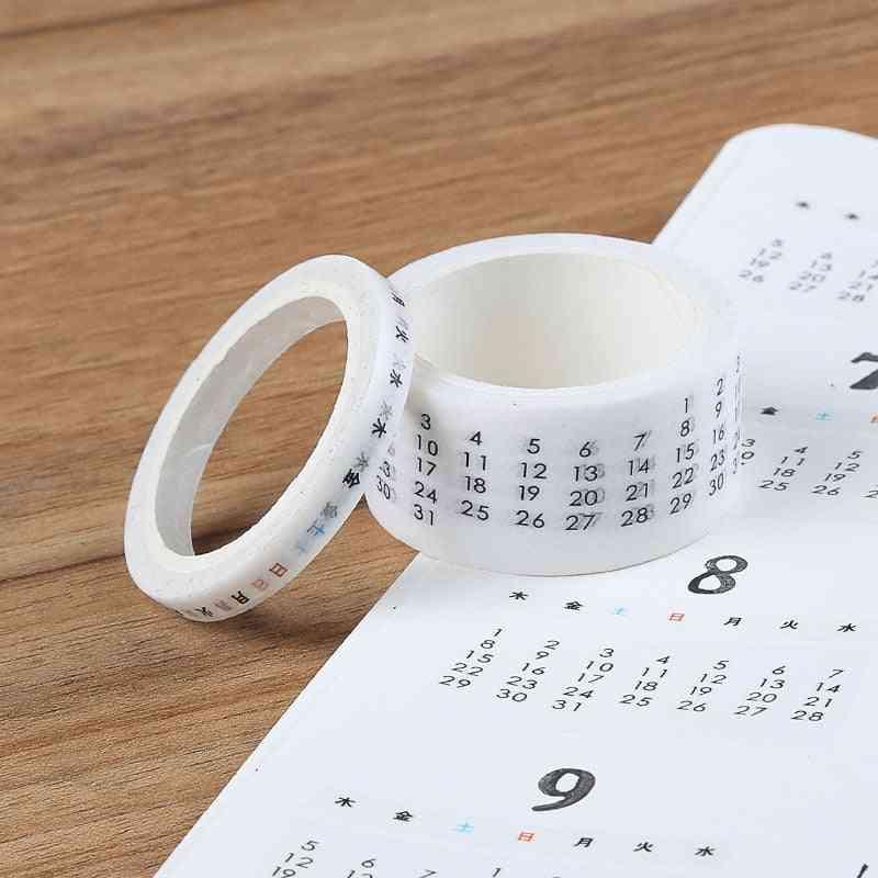 Week Calendar Tape Planner Masking Tape