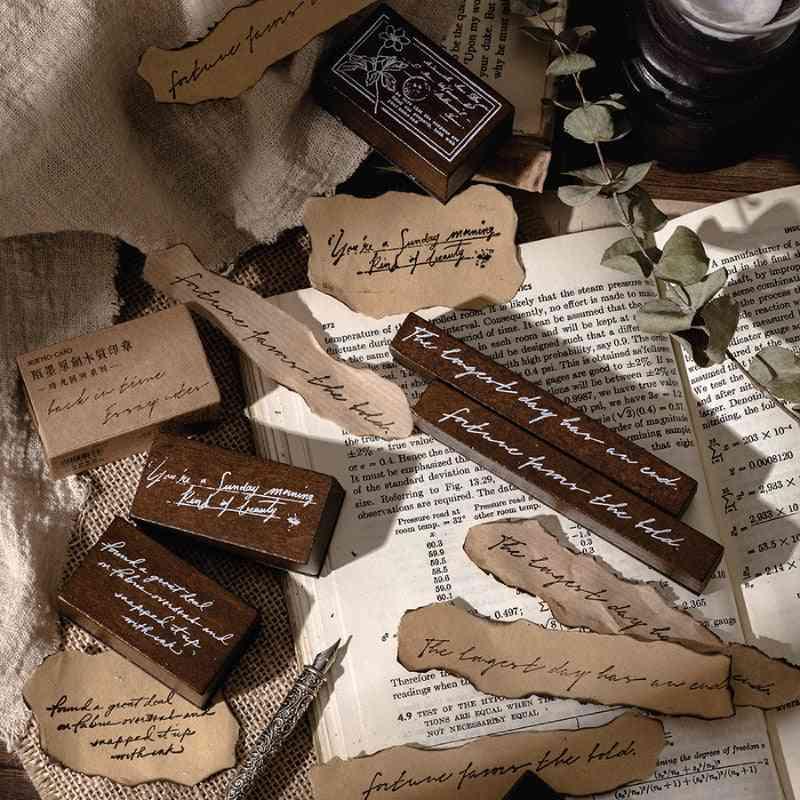 Design Back In Time Series Vintage Wooden Rubber Stamp