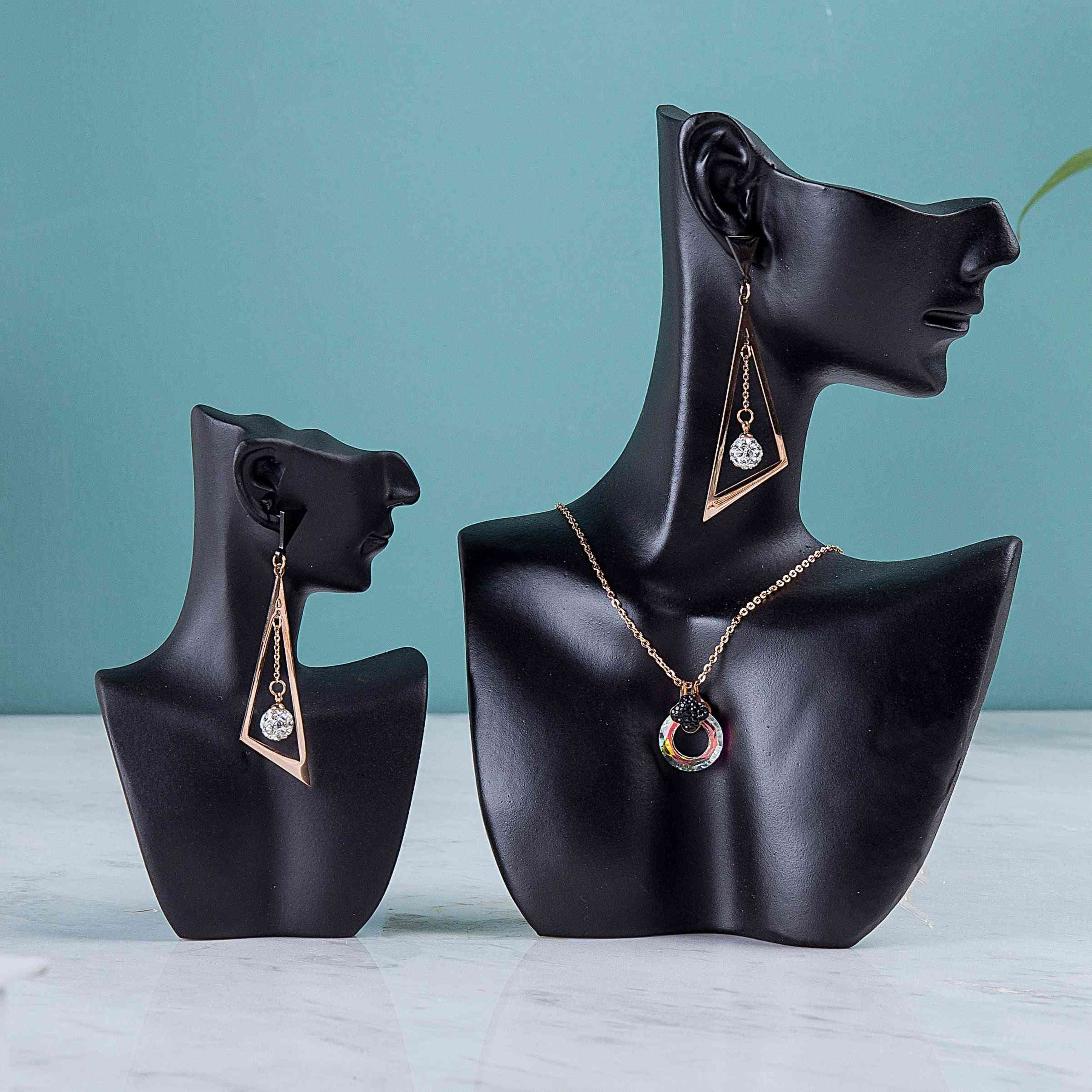 Model Earrings Necklace Jewelry Display Stand