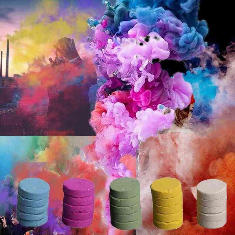 Colourful Smoke Cake Props Combustion Smog