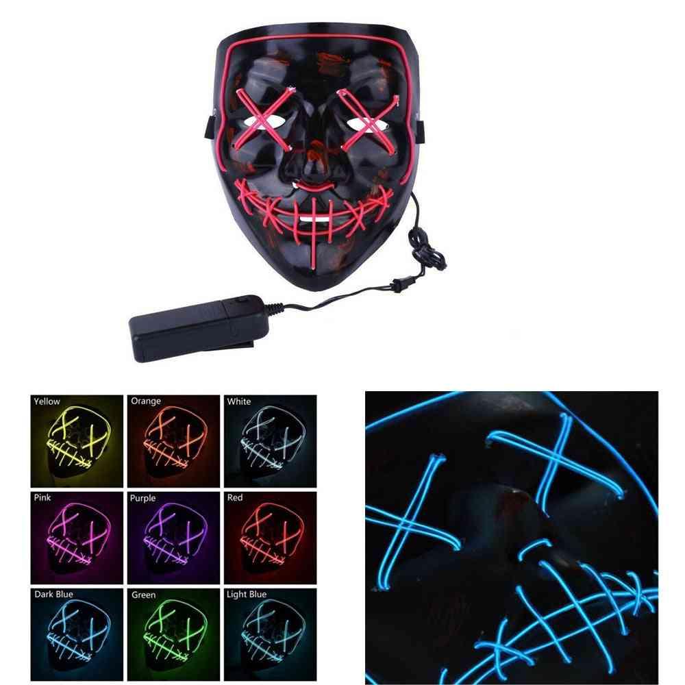 Neon Stitches Mask Halloween Cosplay Mask
