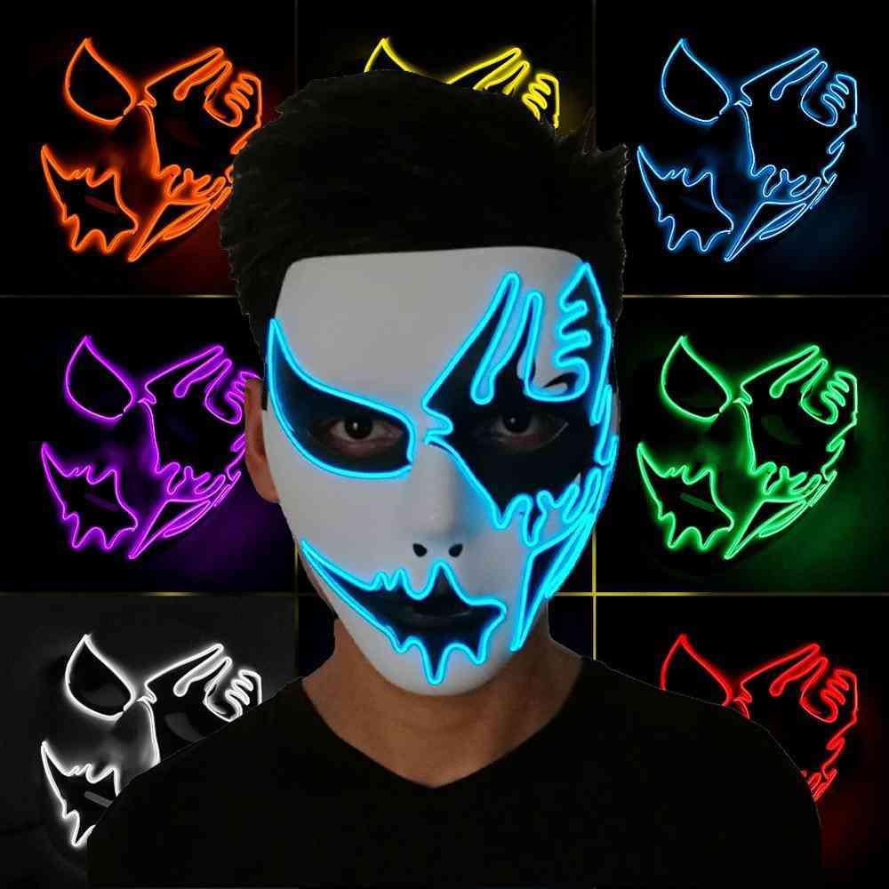 Easter Halloween Led Luminous Rave Mask Terror