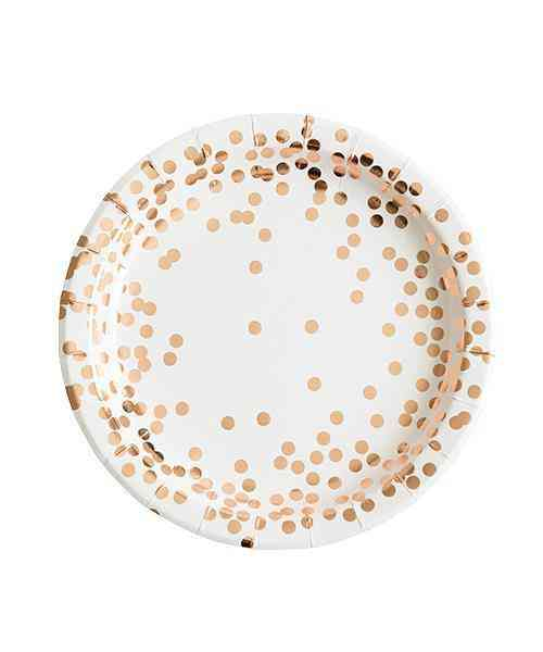 Rose Gold Confetti Plates