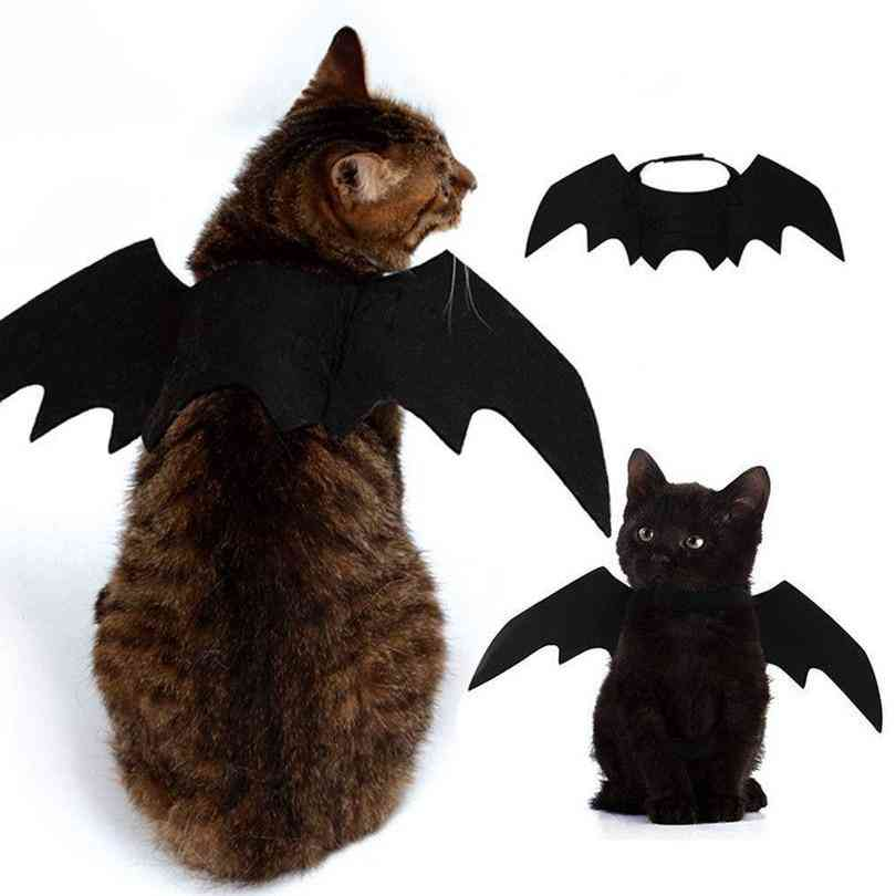 Cute Halloween Small Pet Bat Wings Halloween Cat Accessories