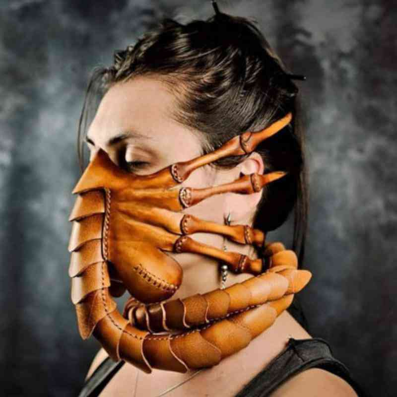 Halloween Horror Rubber Scary Half Face Bug Mask Latex Mask