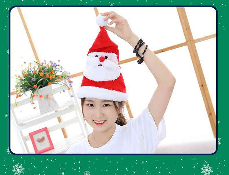 Electric Christmas Light Singing Hat Santa Hat