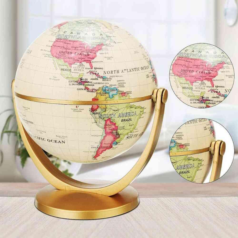 English Edition Globe World Map