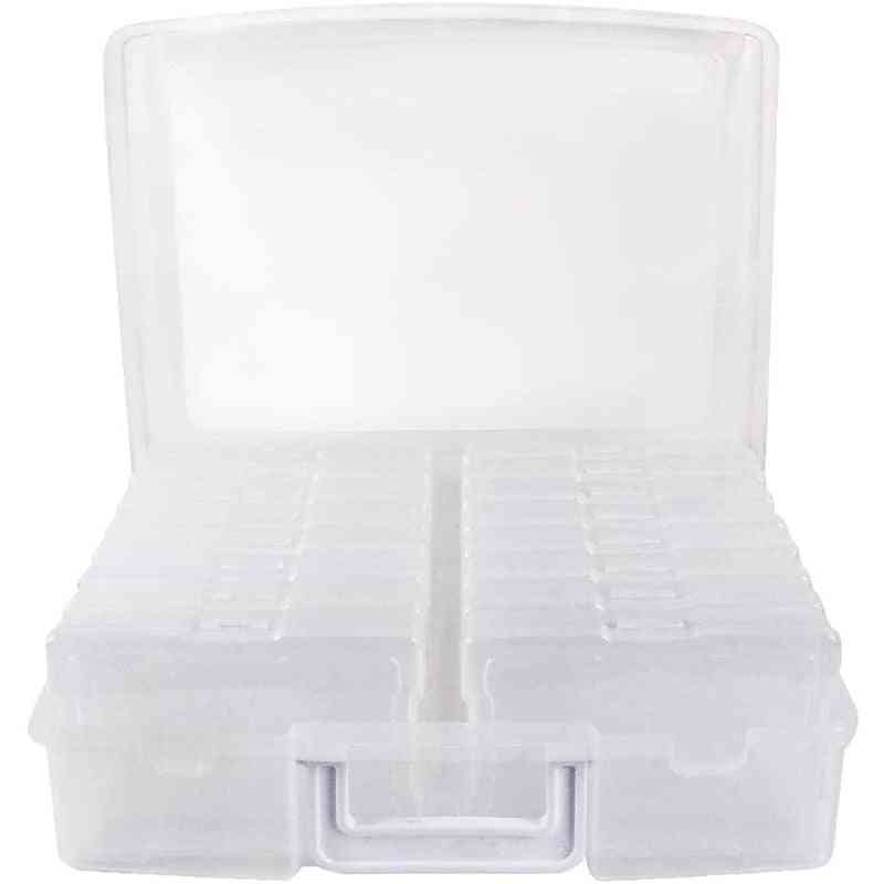 Clear Photo Storage Box Picture Keeper Cases