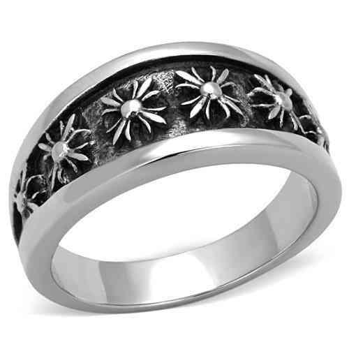 Men Stainless Steel Epoxy Rings Tk1603
