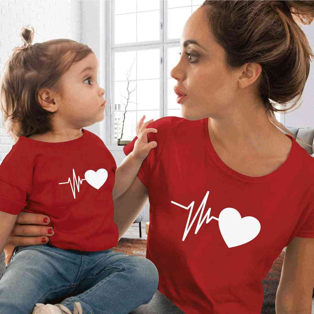 Family Look Matching Mommy And Me T-shirt