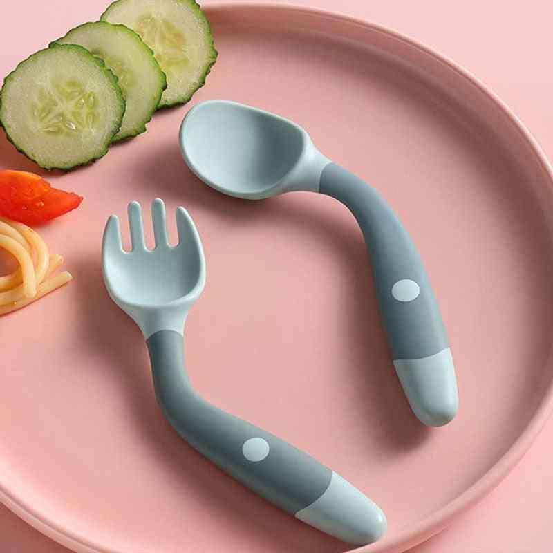 Baby Soft Twist Spoon Fork Feeding Set